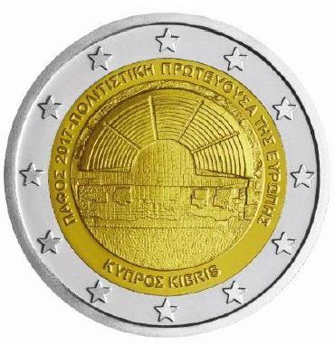 2 Euro Zypern 2017 Paphos Graf Waldschratde In Unserem Euro