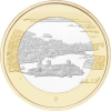 5 Euro Finnland 2018 Landscapes Olavinlinna Castle and Lake Pihlajavesi